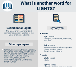 Lights, synonym Lights, another word for Lights, words like Lights, thesaurus Lights