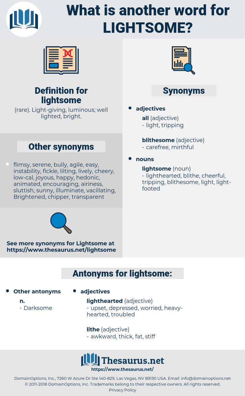 lightsome, synonym lightsome, another word for lightsome, words like lightsome, thesaurus lightsome