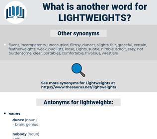 lightweights, synonym lightweights, another word for lightweights, words like lightweights, thesaurus lightweights