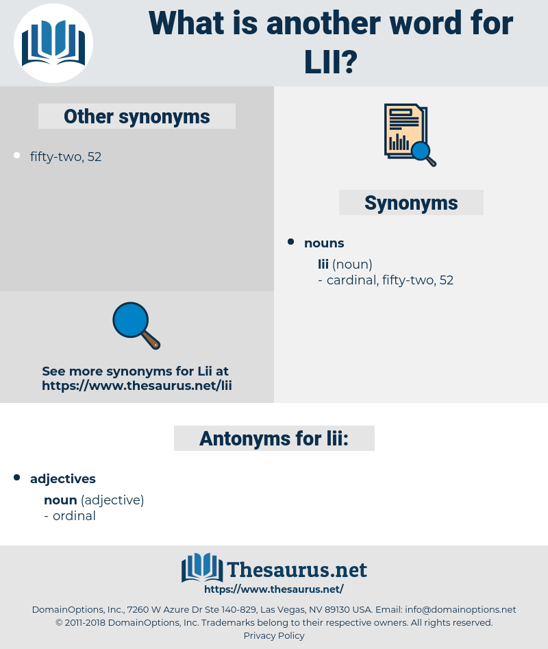 lii, synonym lii, another word for lii, words like lii, thesaurus lii