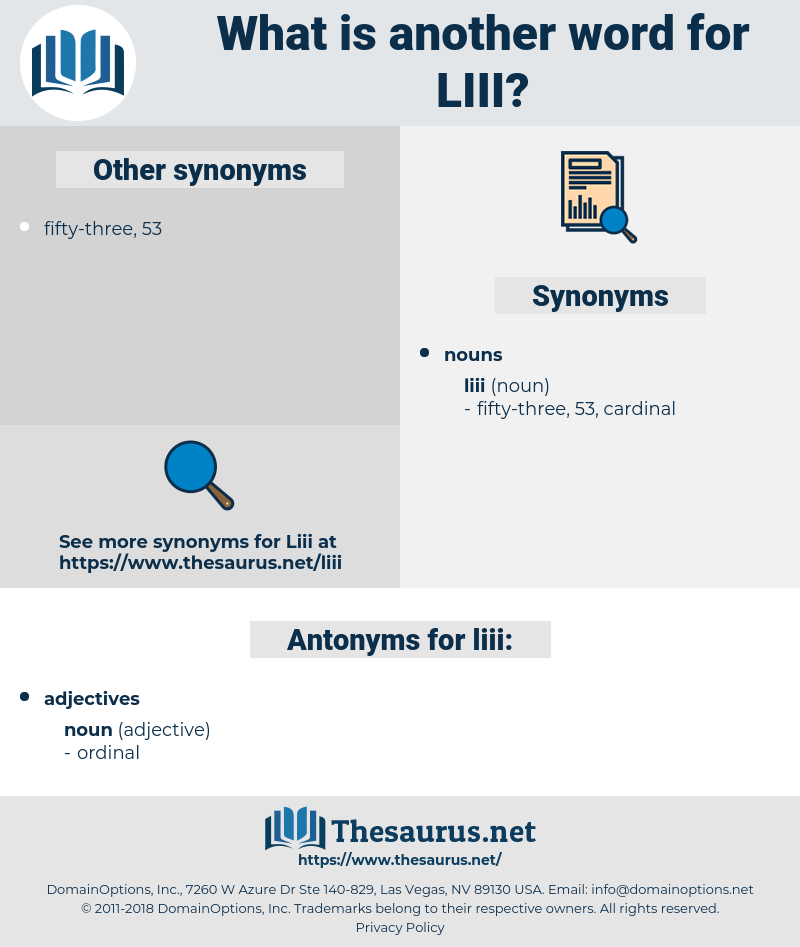liii, synonym liii, another word for liii, words like liii, thesaurus liii