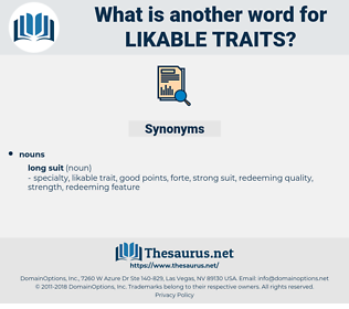 likable traits, synonym likable traits, another word for likable traits, words like likable traits, thesaurus likable traits