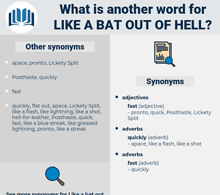 like a bat out of hell, synonym like a bat out of hell, another word for like a bat out of hell, words like like a bat out of hell, thesaurus like a bat out of hell