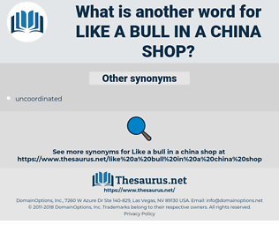 like a bull in a china shop, synonym like a bull in a china shop, another word for like a bull in a china shop, words like like a bull in a china shop, thesaurus like a bull in a china shop