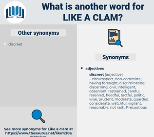 like a clam, synonym like a clam, another word for like a clam, words like like a clam, thesaurus like a clam