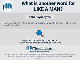 like a man, synonym like a man, another word for like a man, words like like a man, thesaurus like a man