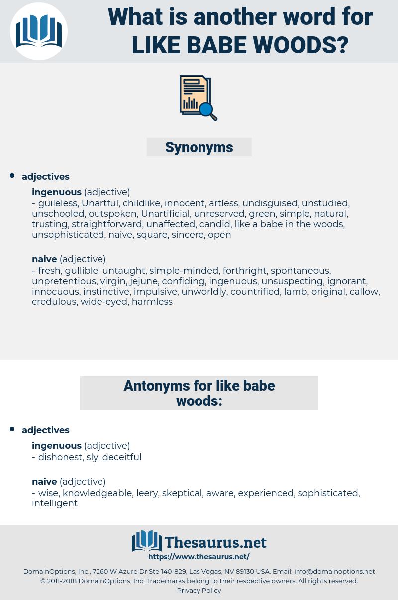 like babe woods, synonym like babe woods, another word for like babe woods, words like like babe woods, thesaurus like babe woods