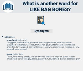 like bag bones, synonym like bag bones, another word for like bag bones, words like like bag bones, thesaurus like bag bones