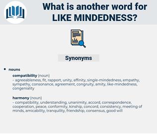 like-mindedness, synonym like-mindedness, another word for like-mindedness, words like like-mindedness, thesaurus like-mindedness
