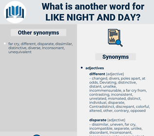like night and day, synonym like night and day, another word for like night and day, words like like night and day, thesaurus like night and day