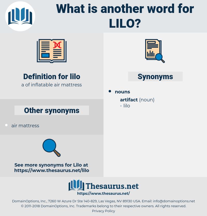 lilo, synonym lilo, another word for lilo, words like lilo, thesaurus lilo
