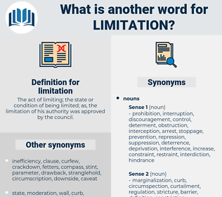 limitation, synonym limitation, another word for limitation, words like limitation, thesaurus limitation