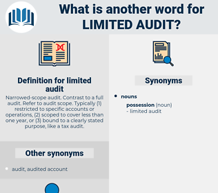 limited audit, synonym limited audit, another word for limited audit, words like limited audit, thesaurus limited audit