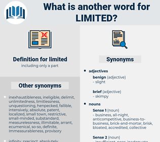 limited, synonym limited, another word for limited, words like limited, thesaurus limited