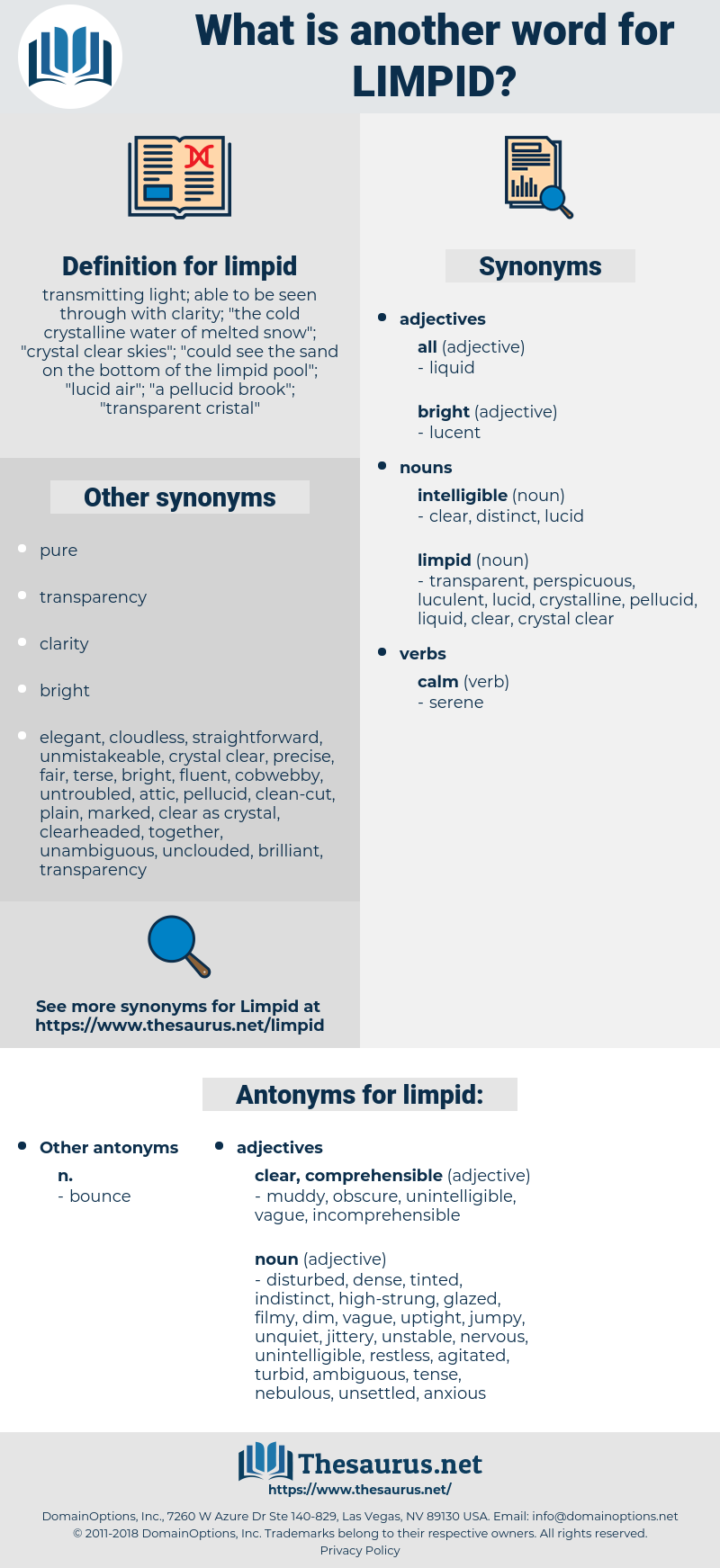 limpid, synonym limpid, another word for limpid, words like limpid, thesaurus limpid