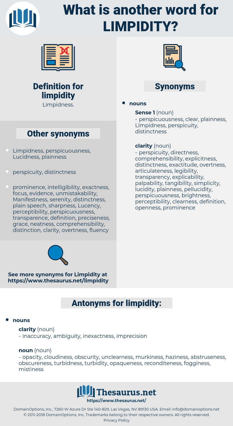 limpidity, synonym limpidity, another word for limpidity, words like limpidity, thesaurus limpidity