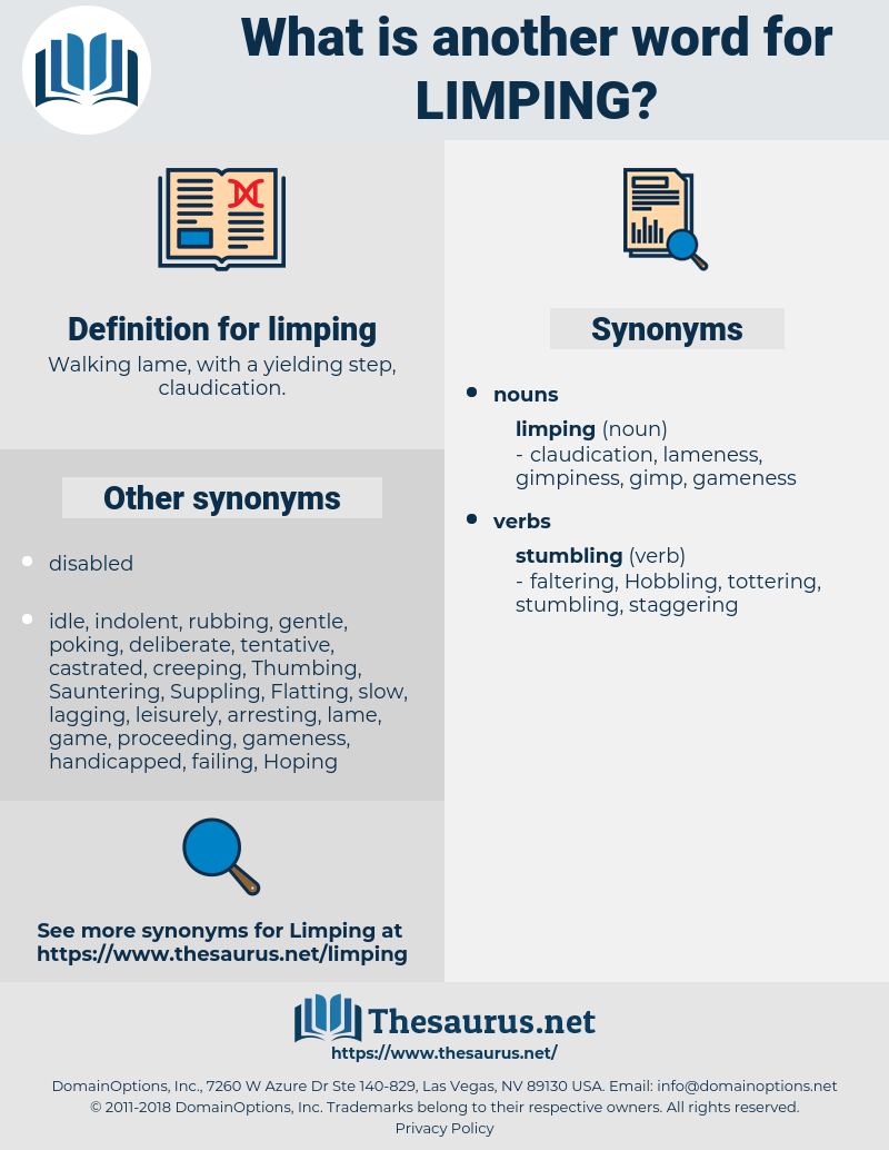 limping, synonym limping, another word for limping, words like limping, thesaurus limping