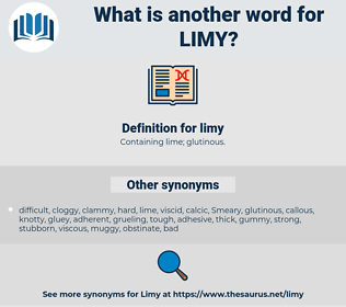 limy, synonym limy, another word for limy, words like limy, thesaurus limy