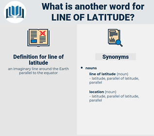line of latitude, synonym line of latitude, another word for line of latitude, words like line of latitude, thesaurus line of latitude