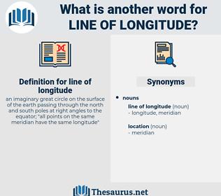 line of longitude, synonym line of longitude, another word for line of longitude, words like line of longitude, thesaurus line of longitude