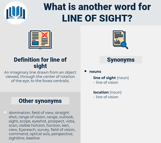 line of sight, synonym line of sight, another word for line of sight, words like line of sight, thesaurus line of sight