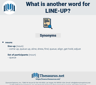 line up, synonym line up, another word for line up, words like line up, thesaurus line up