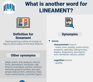 lineament, synonym lineament, another word for lineament, words like lineament, thesaurus lineament