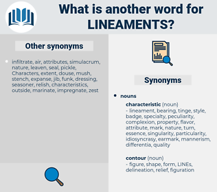 lineaments, synonym lineaments, another word for lineaments, words like lineaments, thesaurus lineaments
