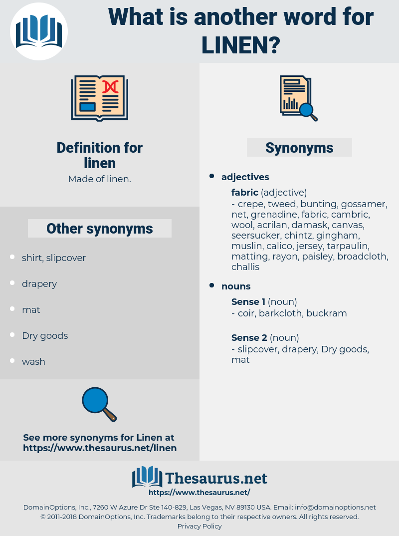 linen, synonym linen, another word for linen, words like linen, thesaurus linen