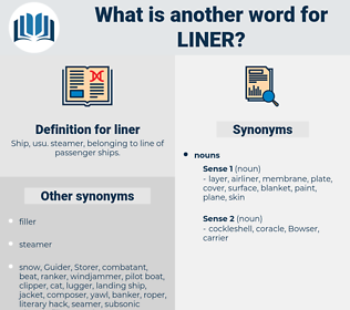liner, synonym liner, another word for liner, words like liner, thesaurus liner