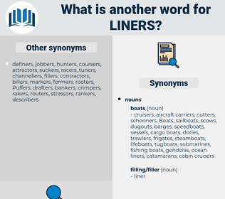 liners, synonym liners, another word for liners, words like liners, thesaurus liners