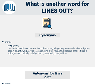 lines out, synonym lines out, another word for lines out, words like lines out, thesaurus lines out