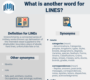 LINEs, synonym LINEs, another word for LINEs, words like LINEs, thesaurus LINEs