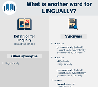 lingually, synonym lingually, another word for lingually, words like lingually, thesaurus lingually
