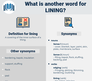 lining, synonym lining, another word for lining, words like lining, thesaurus lining