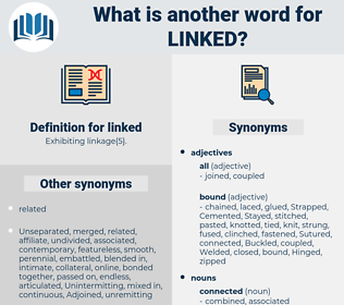 linked, synonym linked, another word for linked, words like linked, thesaurus linked