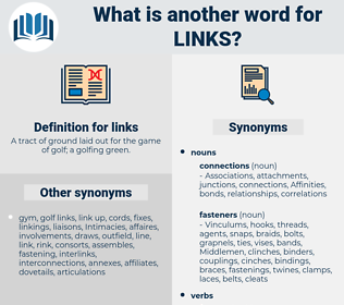links, synonym links, another word for links, words like links, thesaurus links