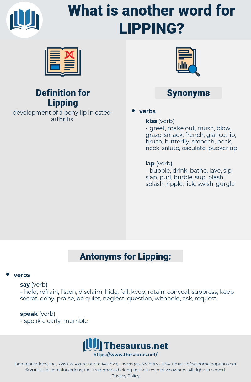 Lipping, synonym Lipping, another word for Lipping, words like Lipping, thesaurus Lipping