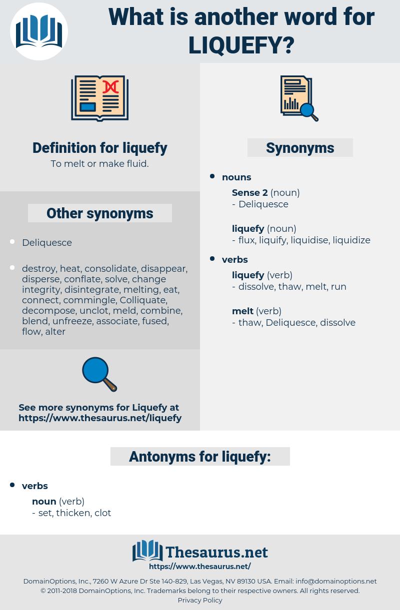 liquefy, synonym liquefy, another word for liquefy, words like liquefy, thesaurus liquefy