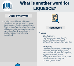 liquesce, synonym liquesce, another word for liquesce, words like liquesce, thesaurus liquesce