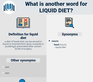 liquid diet, synonym liquid diet, another word for liquid diet, words like liquid diet, thesaurus liquid diet