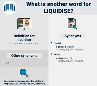 liquidise, synonym liquidise, another word for liquidise, words like liquidise, thesaurus liquidise