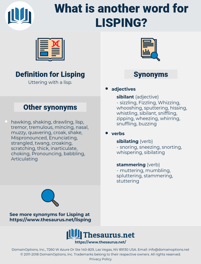 Lisping, synonym Lisping, another word for Lisping, words like Lisping, thesaurus Lisping