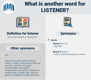 listener, synonym listener, another word for listener, words like listener, thesaurus listener
