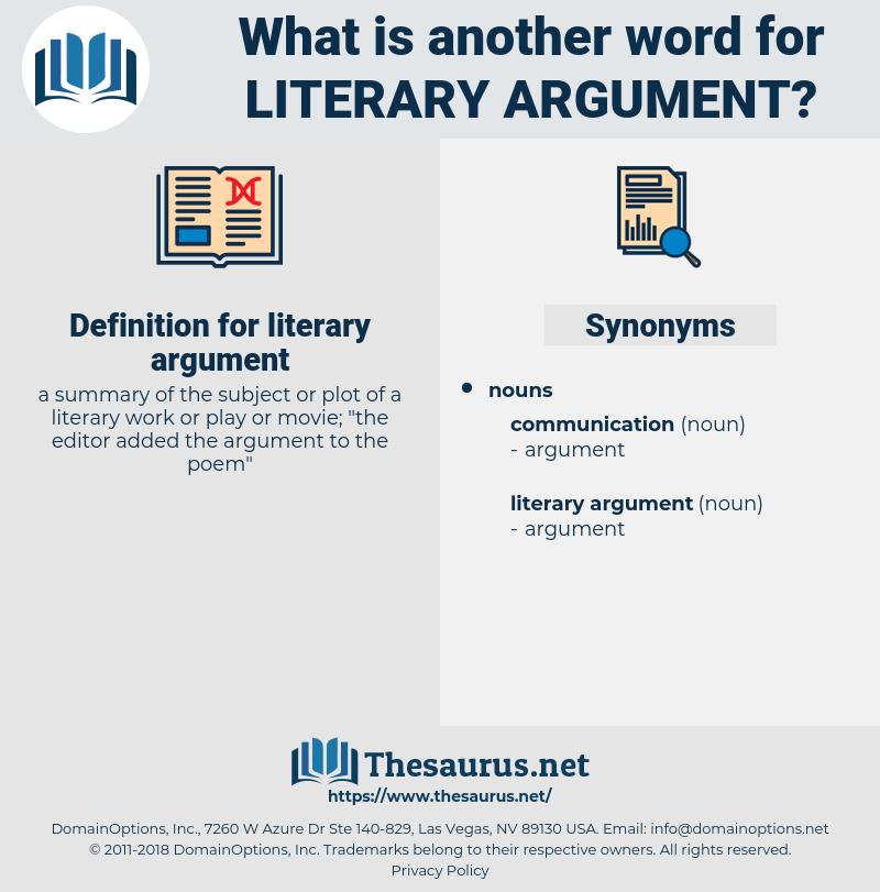 literary argument, synonym literary argument, another word for literary argument, words like literary argument, thesaurus literary argument