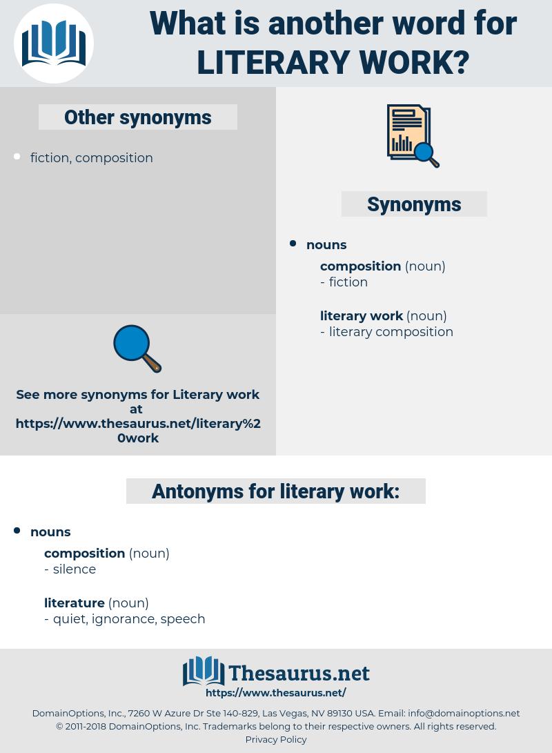 literary work, synonym literary work, another word for literary work, words like literary work, thesaurus literary work