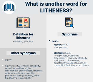 litheness, synonym litheness, another word for litheness, words like litheness, thesaurus litheness