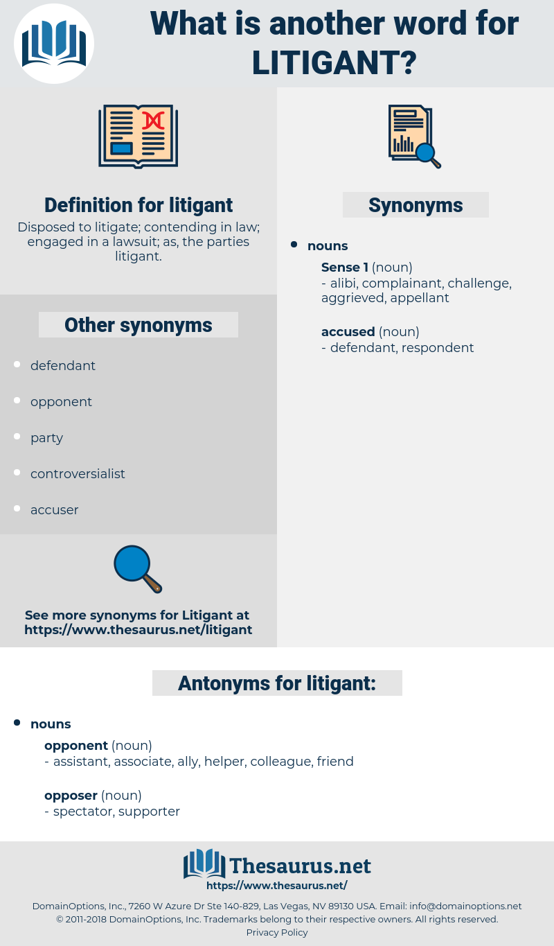 litigant, synonym litigant, another word for litigant, words like litigant, thesaurus litigant