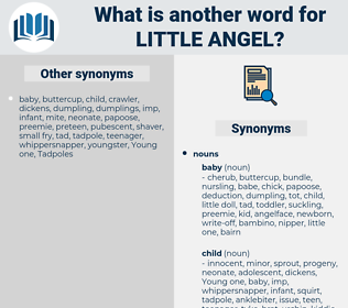 little angel, synonym little angel, another word for little angel, words like little angel, thesaurus little angel