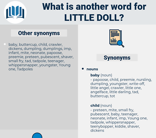 little doll, synonym little doll, another word for little doll, words like little doll, thesaurus little doll